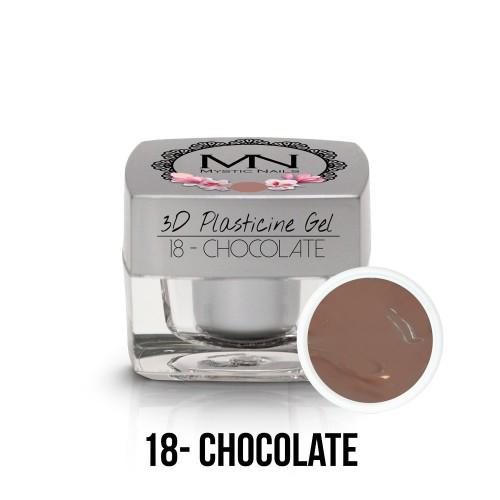 3D Plastilina Gel - 18 - Chocolate - 3,5g