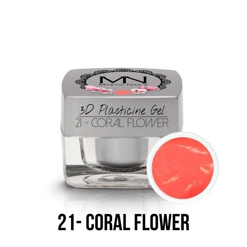 3D Plastilina Gel - 21 - Coral Flower - 3,5g