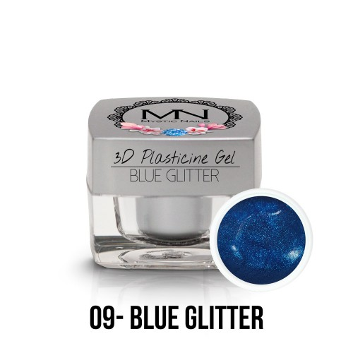 3D Plastilina Gel - 09 - Blue Glitter - 3,5g