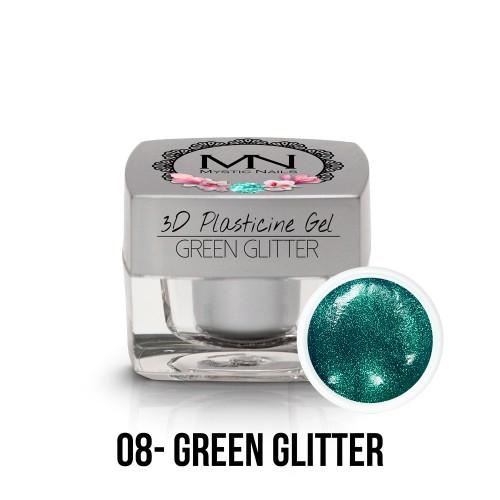 3D Plastilina Gel - 08 - Green Glitter - 3,5g