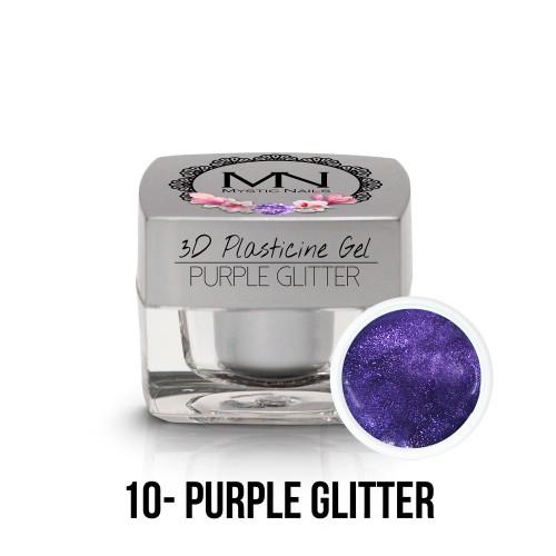3D Plastilina Gel - 10 - Purple Glitter - 3,5g