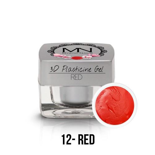 3D Plastilina Gel - 12 - Red - 3,5g