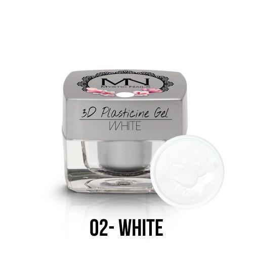 3D Plastilina Gel - 02 - White - 3,5g