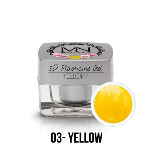 3D Plastilina Gel - 03 - Yellow - 3,5g