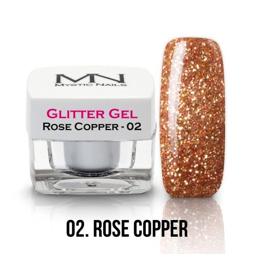 Gel Glitter - no.02. - Rose Copper - 4g