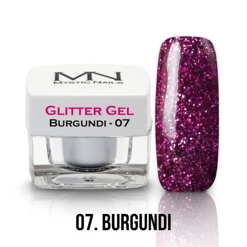 Gel Glitter - no.07. - Burgundi - 4g