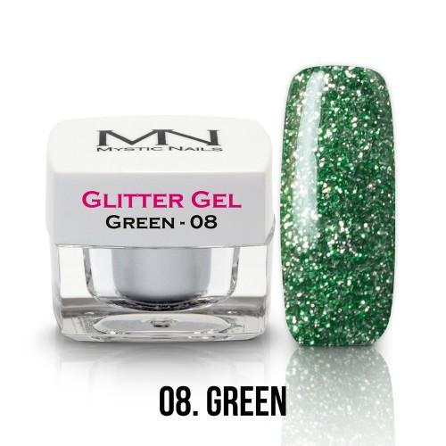 Gel Glitter - no.08. - Green - 4g