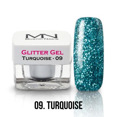 Gel Glitter - no.09. - Turquoise - 4g