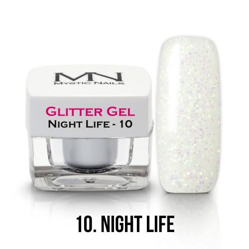 Gel Glitter - no.10. - Night Life - 4g