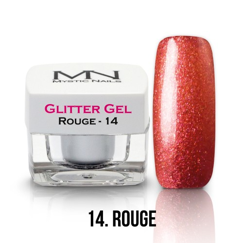 Gel Glitter - no.14. - Rouge - 4g