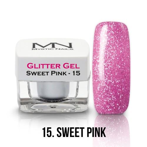 Gel Glitter - no.15. - Sweet Pink - 4g