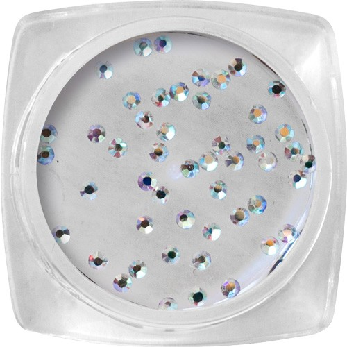 Pietre Crystal -argento, ologramma SS3 - 50 pz / barattolo