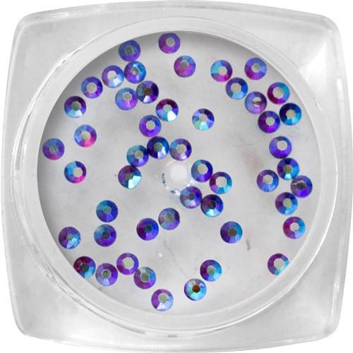Pietre Crystal - viola, ologramma SS4 - 50 pz / barattolo