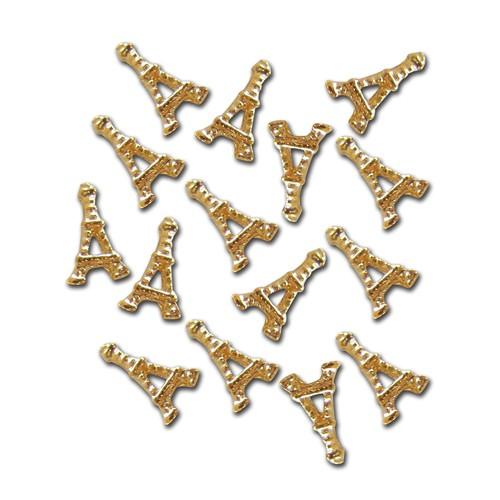 Gioielli per unghie - Torre Eiffel - oro