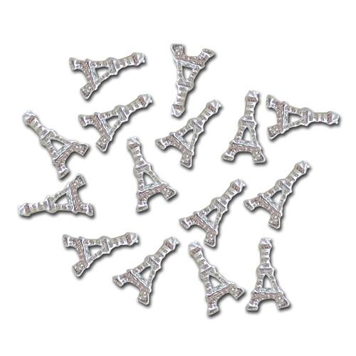 Gioielli per unghie - Torre Eiffel - argento