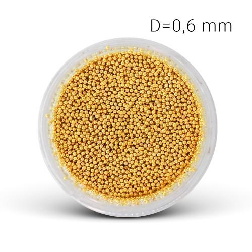 Perle di Metallo - oro(0,6 mm)