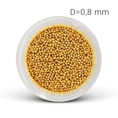 Perle di Metallo - oro (0,8 mm)