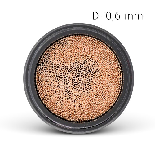 Perle di Metallo - rosato-oro  (0,6 mm)