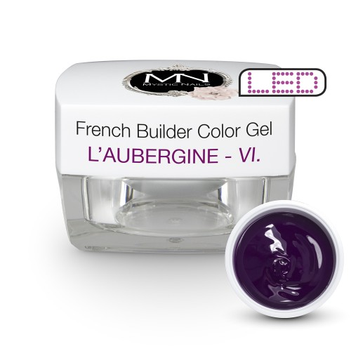 French Builder Color Gel - VI. - l'Aubergine -15g