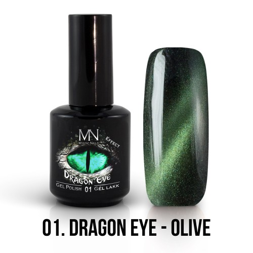 Gel Polish Dragon Eye Effetto 01 - Olive 12ml
