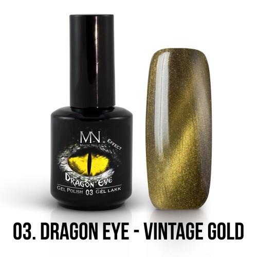 Gel Polish Dragon Eye Effetto 03 - Vintage Gold 12ml