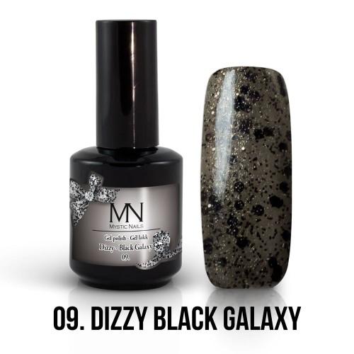 Gel Polish Dizzy 09 - Dizzy Black Galaxy 12ml