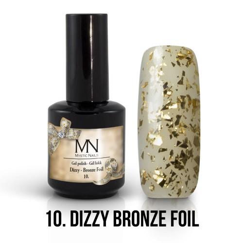 Gel Polish Dizzy 10 - Dizzy Bronze Foil 12ml