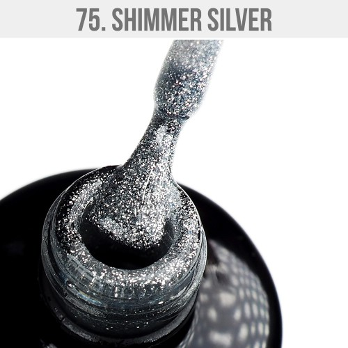 Gel Polish 75 - Shimmer Silver 12ml