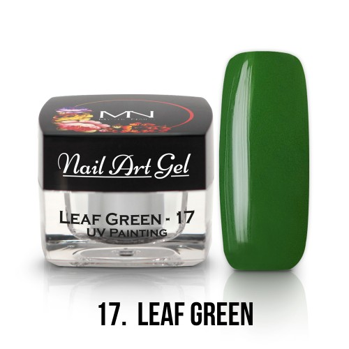 UV Nail Art Gel- 17 - Leaf Green - 4g