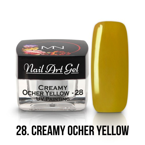 UV Nail Art Gel- 28 - Creamy Ocher Yellow - 4g