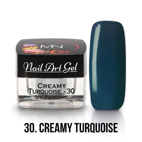 UV Nail Art Gel- 30 - Creamy Turquoise - 4g