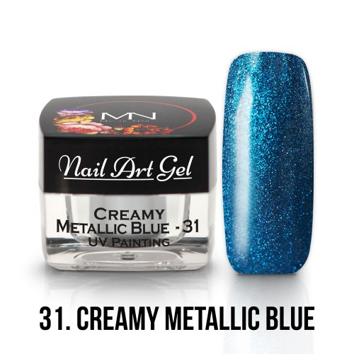 UV Nail Art Gel- 31 - Creamy Metallic Blue - 4g