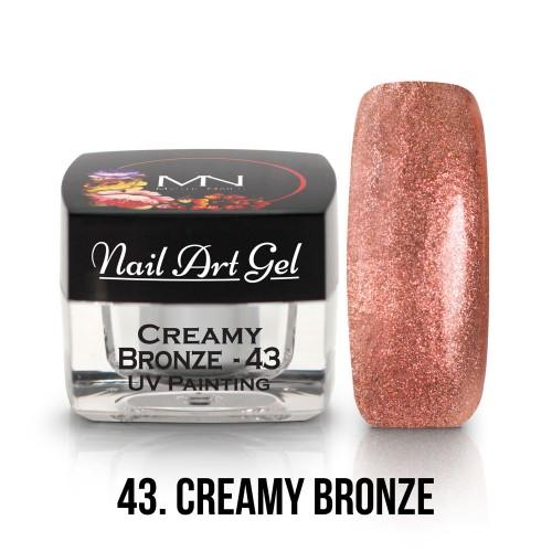 UV Nail Art Gel - 43 - Creamy Bronze - 4g