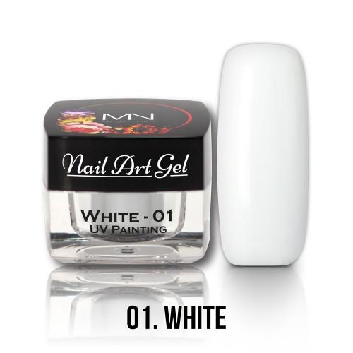 Nail Art Gel - 01 - White - 4g