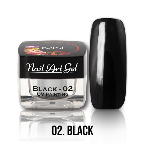 UV Nail Art Gel- 02 - Black - 4g