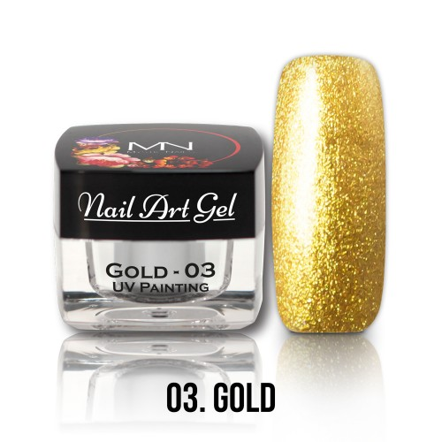 UV Nail Art Gel- 03 - Gold - 4g