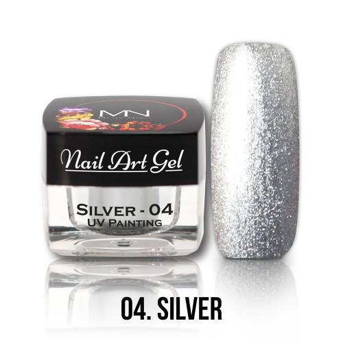 Nail Art Gel - 04 - Silver - 4g
