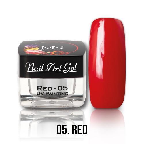 Nail Art Gel - 05 - Red - 4g