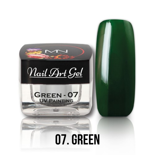 UV Nail Art Gel- 07 - Green - 4g