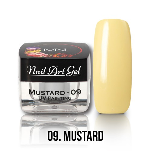 UV Nail Art Gel- 09 - Mustard - 4g