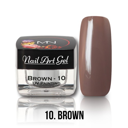 UV Nail Art Gel- 10 - Brown - 4g