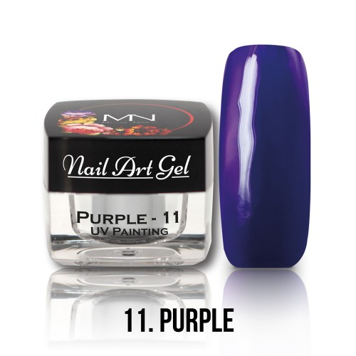UV Nail Art Gel- 11 - Purple - 4g