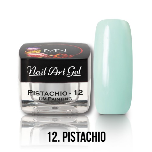 UV Nail Art Gel- 12 - Pistachio - 4g
