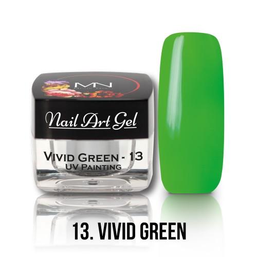 UV Nail Art Gel- 13 - Vivid Green - 4g