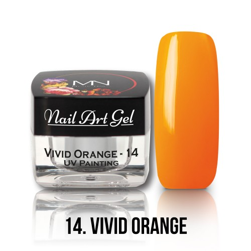 UV Nail Art Gel- 14 - Vivid Orange - 4g