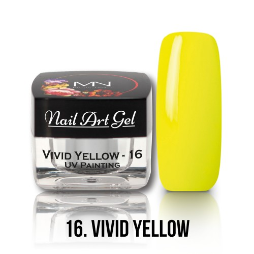 UV Nail Art Gel- 16 - Vivid Yellow - 4g