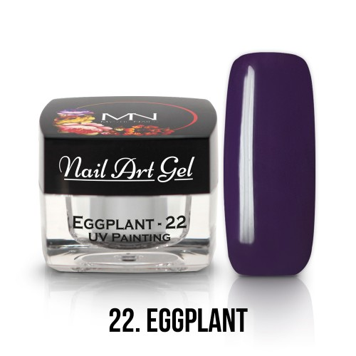 UV Nail Art Gel- 22 - Eggplant - 4g