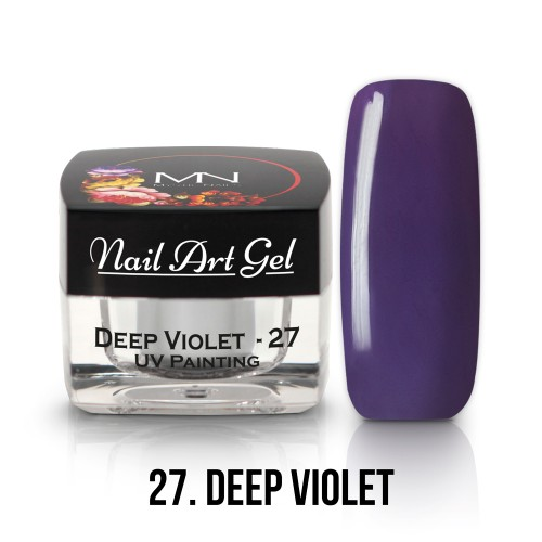 UV Nail Art Gel- 27 - Deep Violet  - 4g