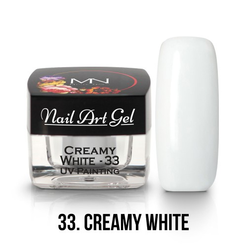 UV Nail Art Gel - 33 - Creamy White - 4g