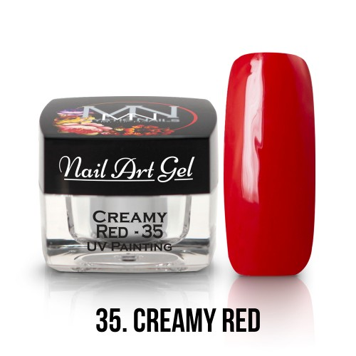 UV Nail Art Gel - 35 - Creamy Red - 4g